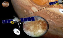 Two spacecraft tethered together (artist's concept)